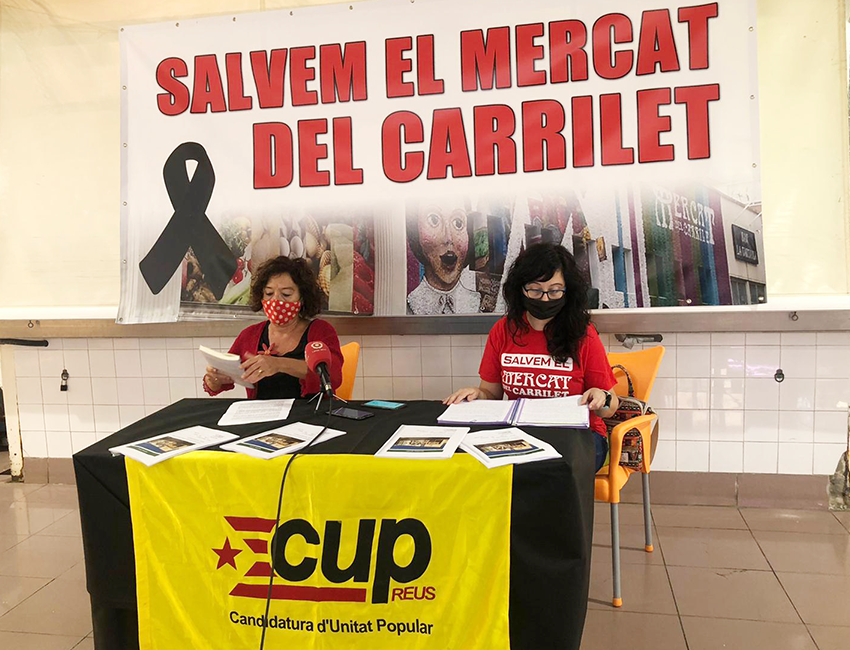 La CUP defensa Mercat Carrilet